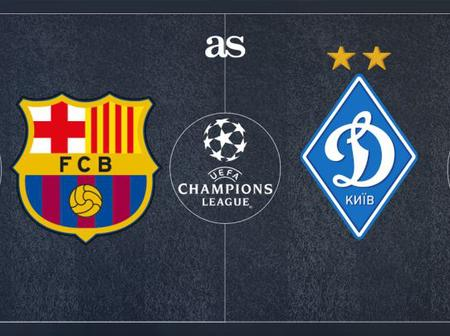 FC Barcelona to lose to Dynamo Kyiv