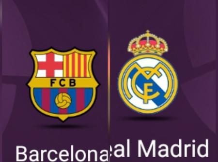 Real Madrid Vs Barcelona: See Their Head-To-Head Records (Last Five Matches)