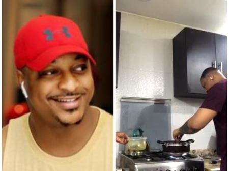 IK Ogbonna Cooks Delicious Cat Fish Pepper Soup For Easter, Shares Photos