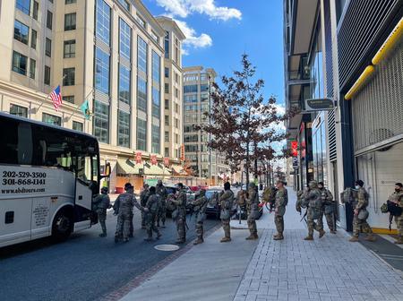 USA Under Heavy Security Ahead of Tomorrow's Joe Biden's Inauguration