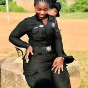 Meet These Ghana Female Police Officer, She looks So Gorgeous. See Her Photos Here