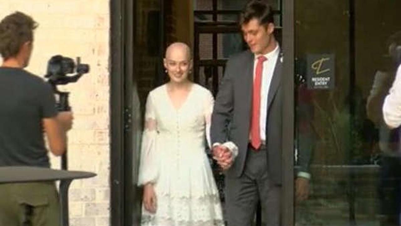 Woman battling brain cancer weds high school sweetheart in Memphis