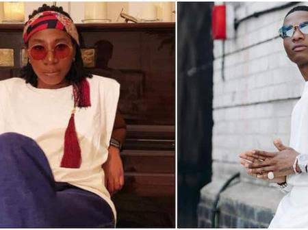 Talented Young Man Makes A Portrait Of Wizkid Using Only Ankara And Gum.