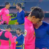 See what Messi did after Elche FC goalkeeper asked for his jersey.