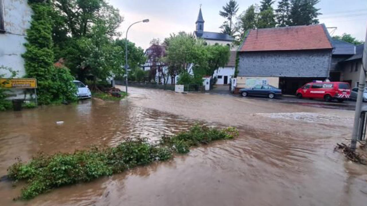 Unwetter sorgte für überflutete Straßen im Soonwald