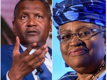 See What Dangote Said About Ngozi Okonjo-Iweala's Appointment That Made People React