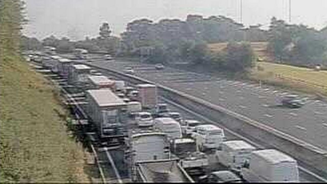 Live updates as crash closes three lanes of M1 with six miles of queues