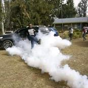 Ni Kama Video ni Kama Drama! Nixon Korir Kicking Back Teargas Canister to Police Officers in Nakuru