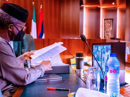 Photos as VP Osinbajo preside over FEC meeting after the president visit to the UK
