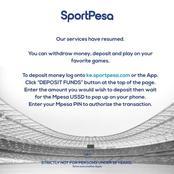 Sportpesa makes a major announcement