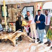 CheckOut The Gift a Nigerian Musician Presented To King Ateke Tom (Photos)