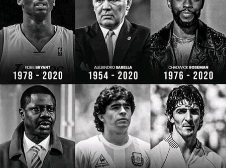 Sad: See photos of 6 legends that died in 2020 and the cause of their deaths