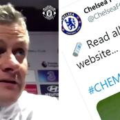 Blues Twitter account troll Solskjaer over Chelsea website claim