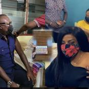 CEO Of EIB Network, Bola Ray And Nana Ana Anamoah Takes The COVID-19 Vaccine; Display Their Cards