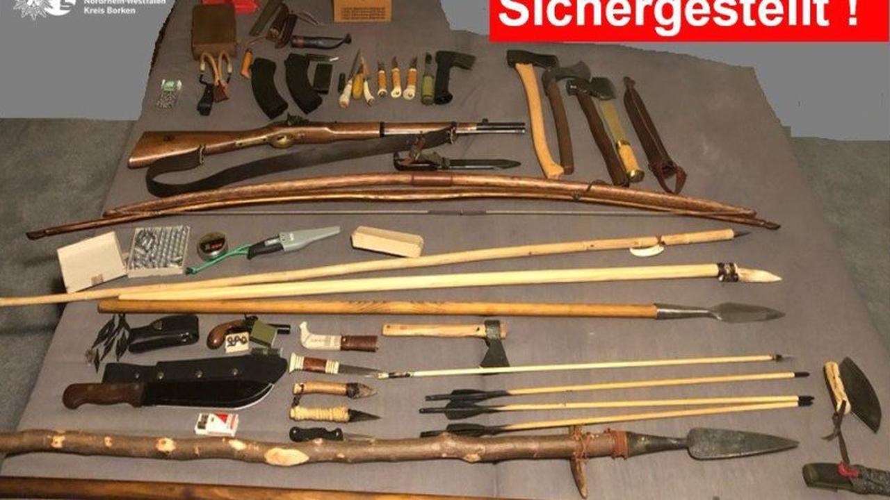 Zahlreiche Waffen sichergestellt