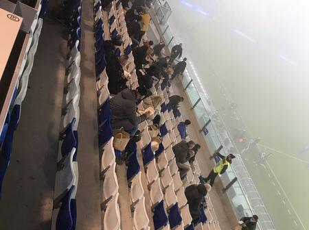 Check Out How Fog Disturbed Sassuolo Match Against Torino (Photos)