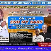 Wonders Shall never End: See The Crusade Program That Formed Its Theme With SARS And Palliatives.