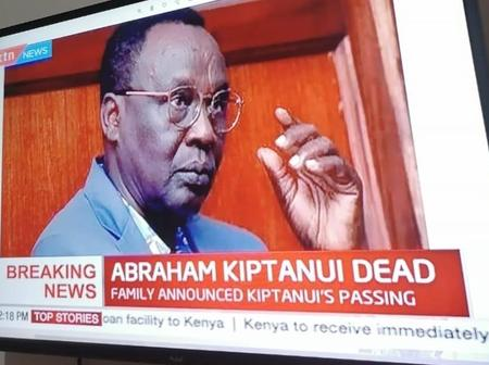 KTN NEWS Suffers The Same Fault With State House Of Kenya In Announcing Death Of Abraham Kiptanui