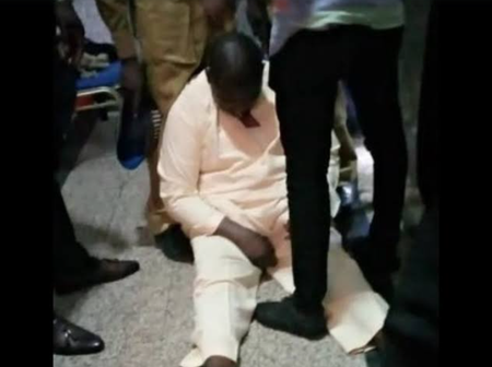 Dino, Olisa Metuh, Pondei and Maina, photos of 4 politicians that fainted during corruption trial