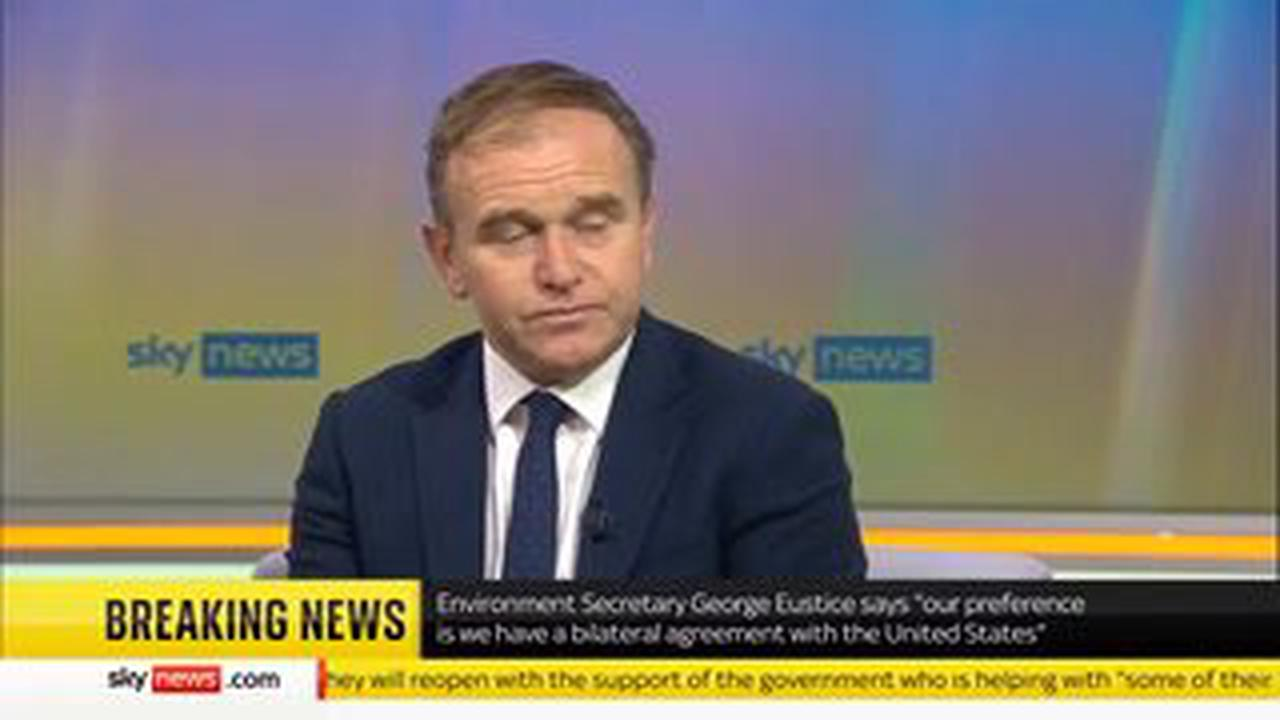 George Eustice bluntly argues Joe Biden is 'wrong' on Brexit protocol intervention