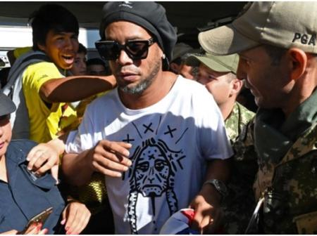 9 Months After Ronaldinho Was Sent To Prison Due To Fake Passport, See How He Looks Now (Photos)