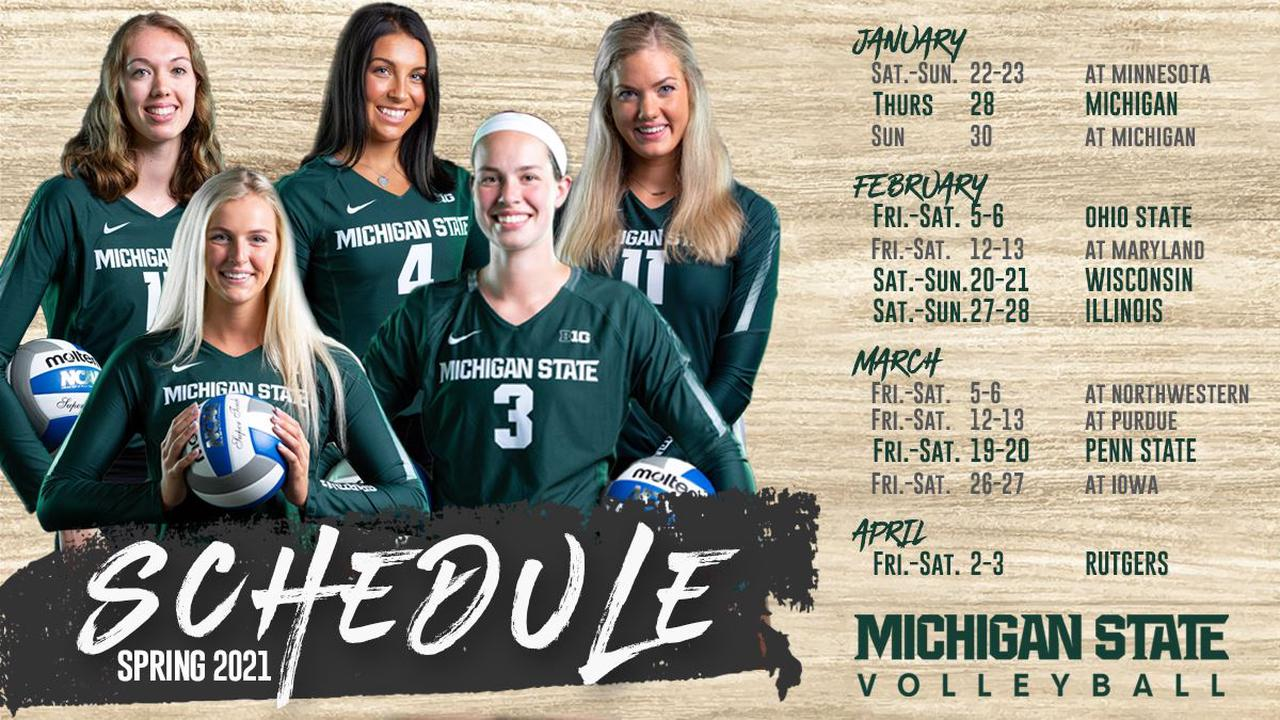 Spring 2021 Volleyball Schedule Announced