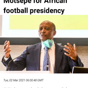 Motsepe has a bigger support ahead his African football presidency from FIFA [opinion]