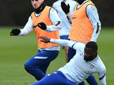 Chelsea in training. Rudiger timely tackle and Oliver Giroud shows his prowess in the air