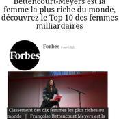 Les 10 femmes les plus riches au monde et leur fortune, selon le classement Forbes 2021