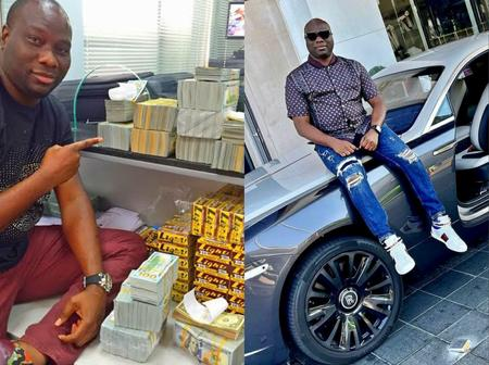 Nigerian Man Claims To Have Made His First 1 Million Naira At Birth, See 20 Photos Of His Cars