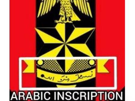 Do You Know The Meaning Of The Arabic Word Written On The Nigerian Army Logo? This Is What It Means