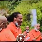 Watch| Bricks Mabrigado Singing In Prison Wearing His Orange Uniform
