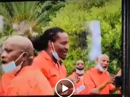 Watch| Bricks Mabrigado Singing In Prison Wearing His Orange Uniform