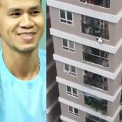Moment Driver Helped A Baby Survived Fall From 12 Storey Building (VIDEO)