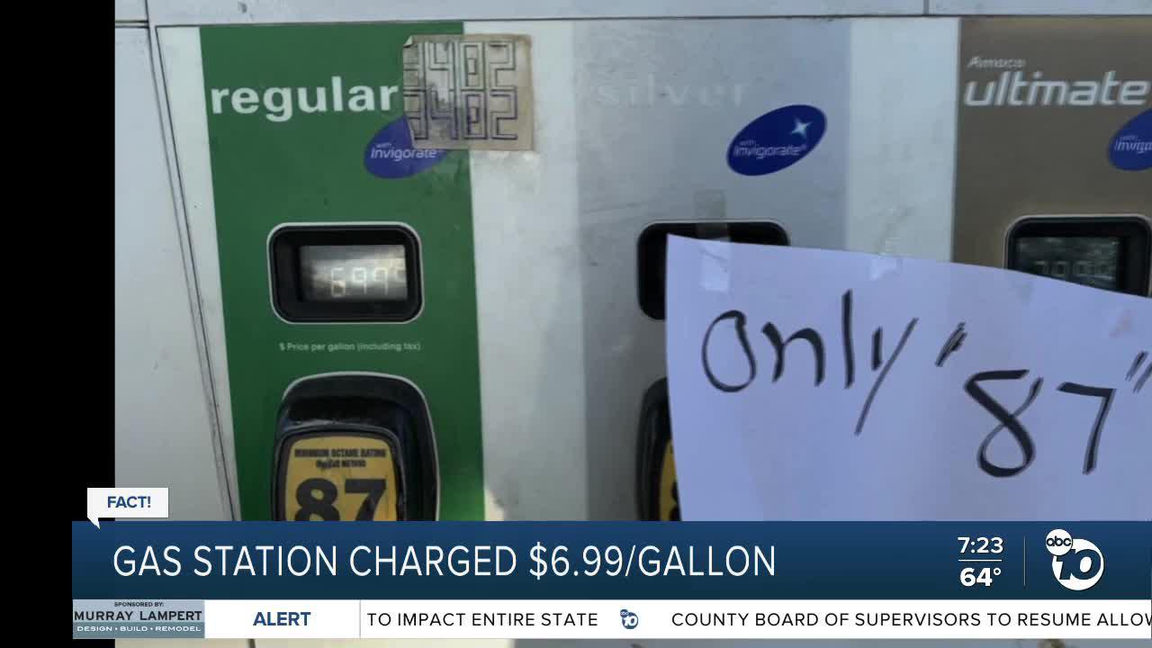Fact or Fiction: Gas station charging $6.99 a gallon?