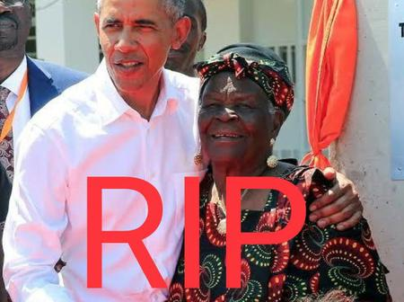 Checkout Pictures Of Barack Obama Together With His Grandmother That Died Today