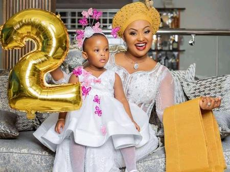 Adorable pictures of Baby Maxin and mum as she turns 2 today