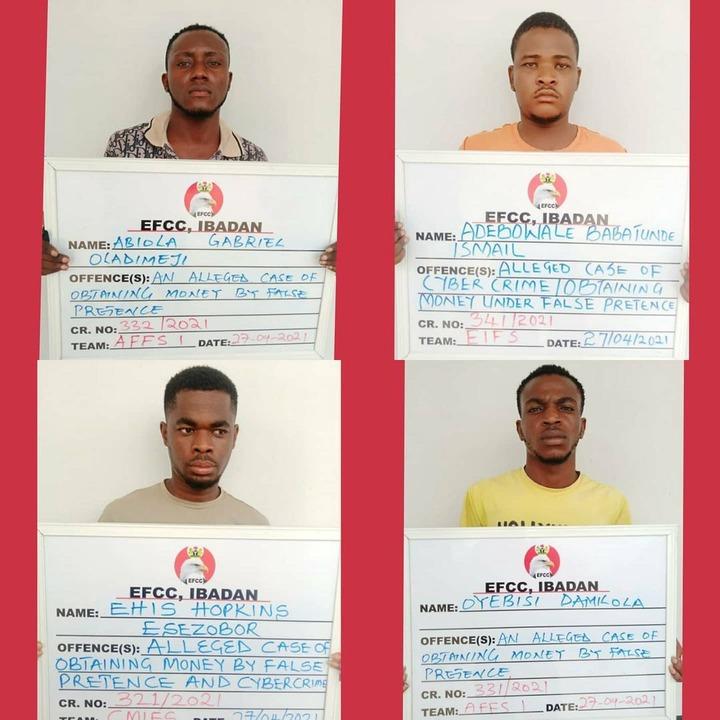 33 suspected internet fraudsters arrested in Abeokuta (photos)