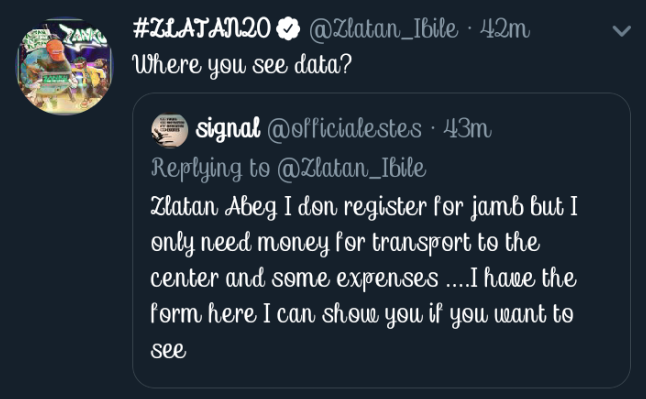 See the Reply Zlatan Gave to a Fan Who Begged Him For Transport Fare To Write Jamb