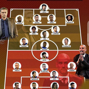 Guardiola's Best 11 Players Versus Mourinho's Best 11 Players, Which Side Will Win? See The 2 Teams.