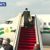 Pictures of President Buhari's Return After Medical Trip To London