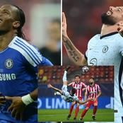 See what transpired between Giroud and Drogba that got people talking on Twitter