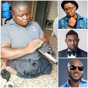 Mike Ezuruonye, Tuface, And AY React To Viral Photos Of A Disabled Man That Manufactures Shoes