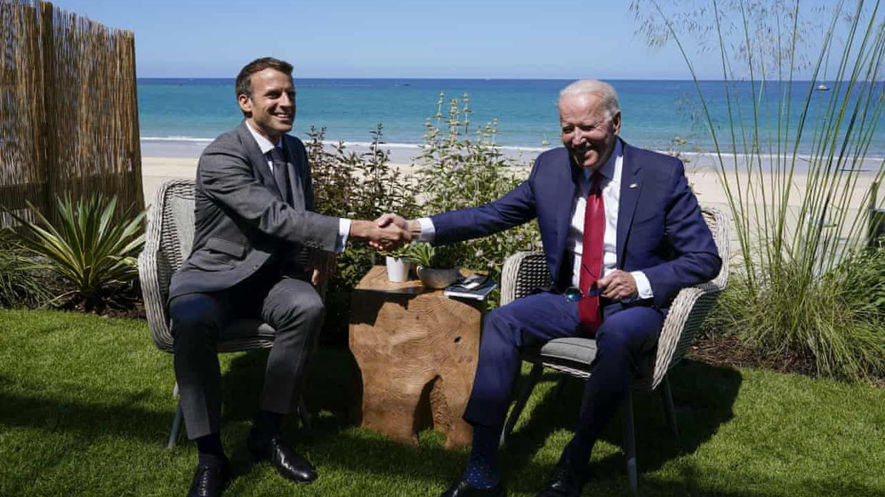 Joe Biden's foreign foray is all about shoring up democracy – in the US