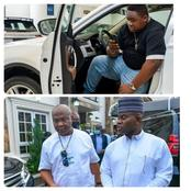 Cubana Chief Priest Share Photos Of Gov. Hope As He Was Received By Gov. Yahaya In Kogi State