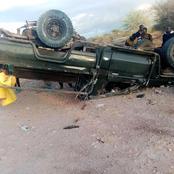 Police Land Cruiser Overturns In Wajir