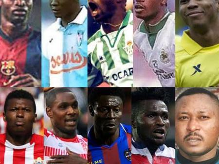 Top 5 Nigerian Footballers Who Have Played In La Liga