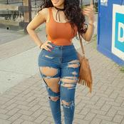 Checkout Descent and yet stunning Demin ripped jeans fits for curvaceous ladies