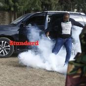 Drama As Lang'ata MP Nixon 'Generali' Korir Is Teargassed By Police Paralyzing London Ward Voting