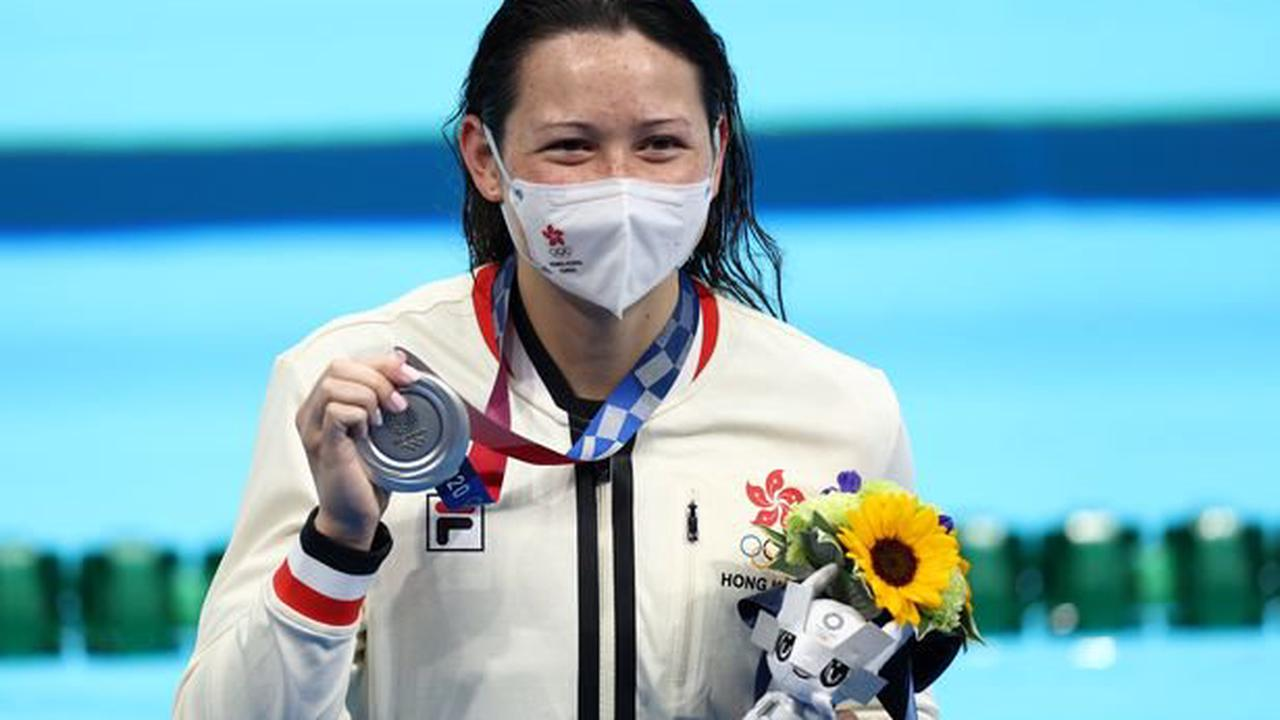 Haughey wins 2nd Olympic swimming medal for Hong Kong